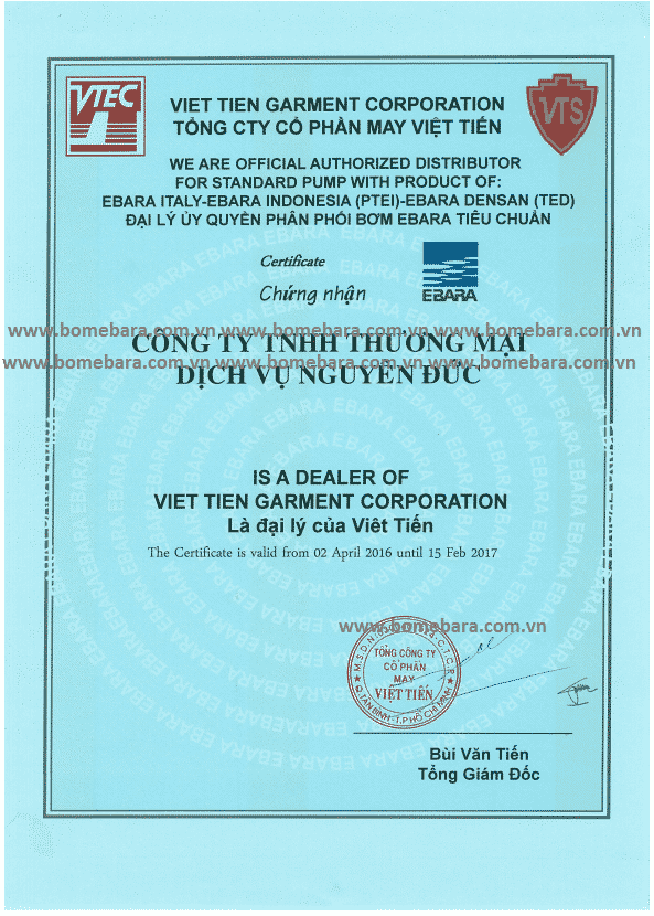 Bơm ebara vietnam